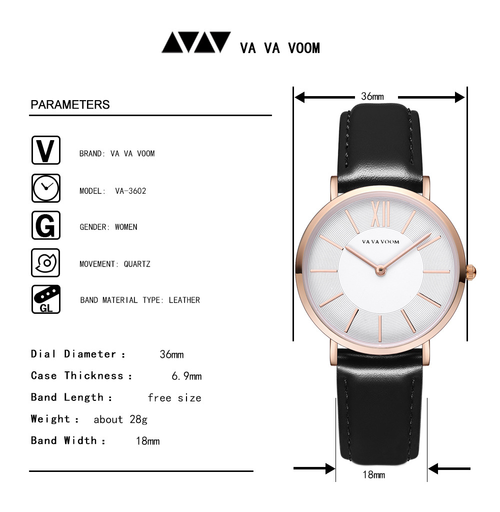 2019 Best Women 39 s Watches Simple Female Ladies Dresses Quartz Watches Fashion Leather Strap Rose Gold Wrist Watch orologio donna in Women 39 s Watches from Watches
