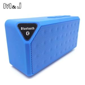 Image 3 - M & J Bluetooth スピーカー X3 Jambox スタイル TF USB FM ワイヤレスポータブル音楽サウンドボックスサブウーファースピーカーとマイクカイシャ · デ · ソム