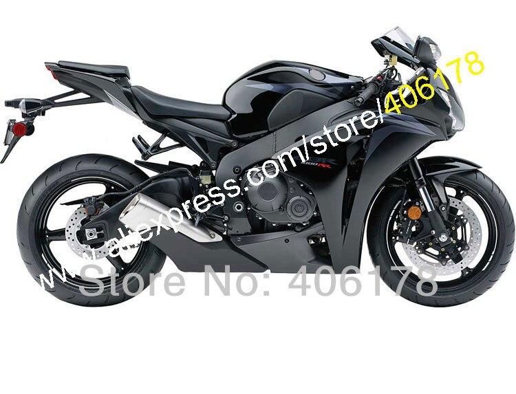 Vendite calde, per Honda CBR1000RR 08 09 10 11 CBR 1000 RR 1000RR CBR1000 Nero 2008 2009 2010 2011 Kit Carena Kit (stampaggio ad iniezione)