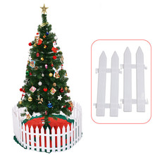 5pcs 12x295cm plastic christmas tree fence layout decorations mini fence christmas decorations for home natal navidad 2017 diy - Plastic Christmas Tree