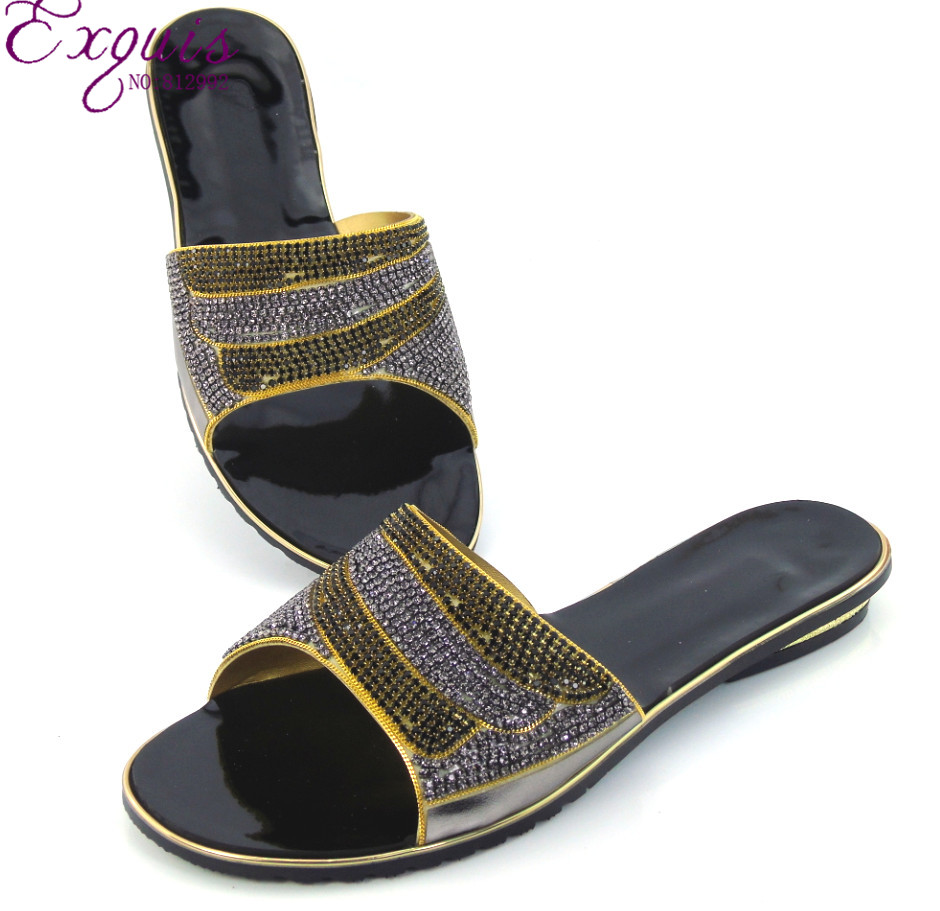 Women's sandals big w - Big W Womens Shoes Women Faux Leather And Rhinestones Big Sparkling Jewels Slip On Heel
