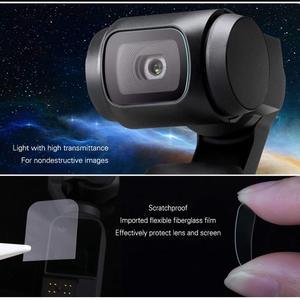 Image 2 - Osmo dji osmo cep aksesuarları ekran koruyucu cep filmler lens koruyucu Film aksesuarı 4K Gimbal kapak