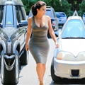 Charming Red Carpet Gowns Sheath Knee Length Kim Kardashian Vibrant Grey Celebrity Inspired Dresses Bodycon 2017 Summer K19