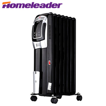 Homeleader EnergySmart 1500W Electric Oil Filled Radiator,Whole Room Heater with LED Display Screen and Remote Control