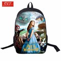 2016 Movie Alice In wonderland Backpacks For Teenage Girls 3D Printing Backpage Women Waterproof Bag School Bags Mochila