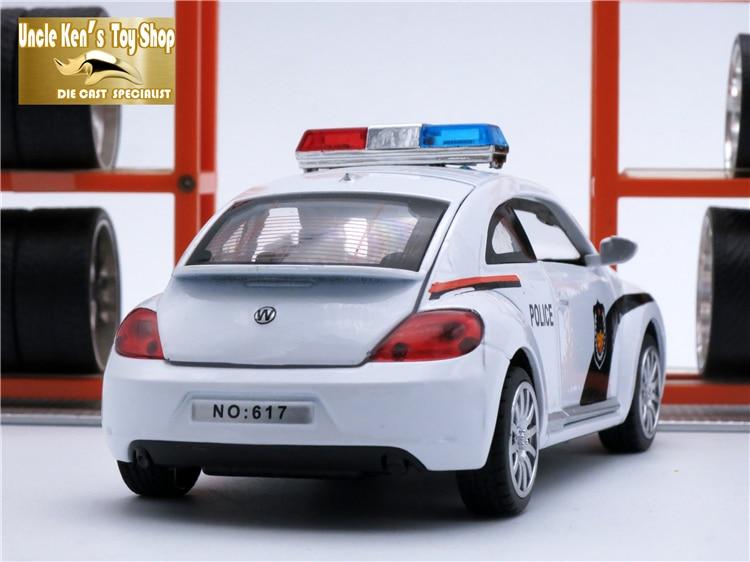 15 cm längd VW Bietleformad bil, 1:32 skalle legering modell, metall - Bilar och fordon - Foto 6