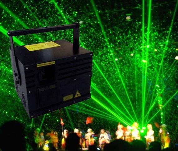 ירוק 10000 mW 10 W אנימציה לייזר + DT40K פרו + Flightcase