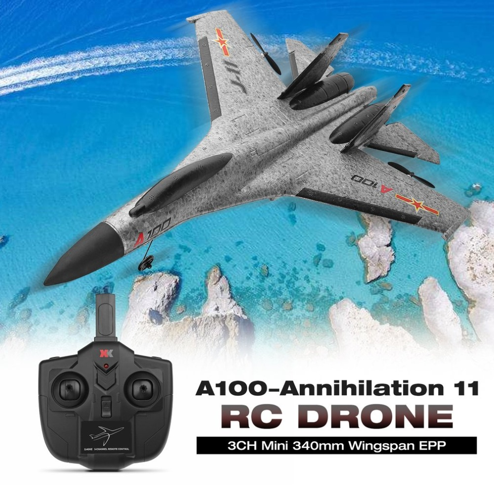 Wltoys A100-Annihilation 11 3CH RC FPV Racing Airplane Toys Mini 340mm Wingspan Wingspan EPP rc Plane Drone Toy with High Speed