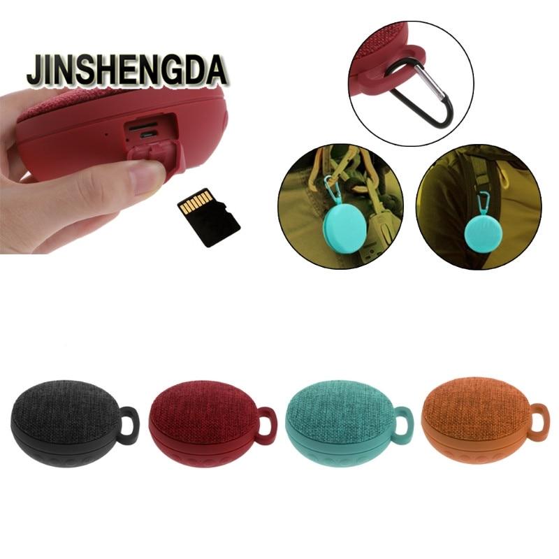 JINSHENGDA Bluetooth Speaker Mini Portable Outdoor Sports Wireless Mic TF Card Stereo Music Bluetooth Speaker