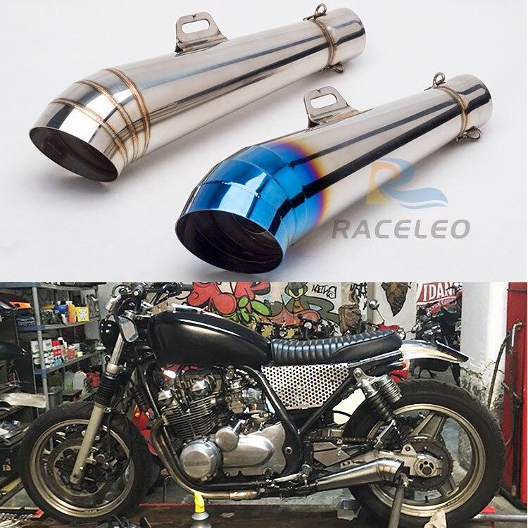 36-51mm universal motorcycle exhaust muffler for MP exhaust Motorbike for GP Exhaust Pipe Slip-On z800 cbr300r Z1000 GSXR1000 36 51mm universal motorcycle double exhaust muffler pipe for z800 gsxr750 zx10r ninja650 two holes muffler cbr1000rr cbr650