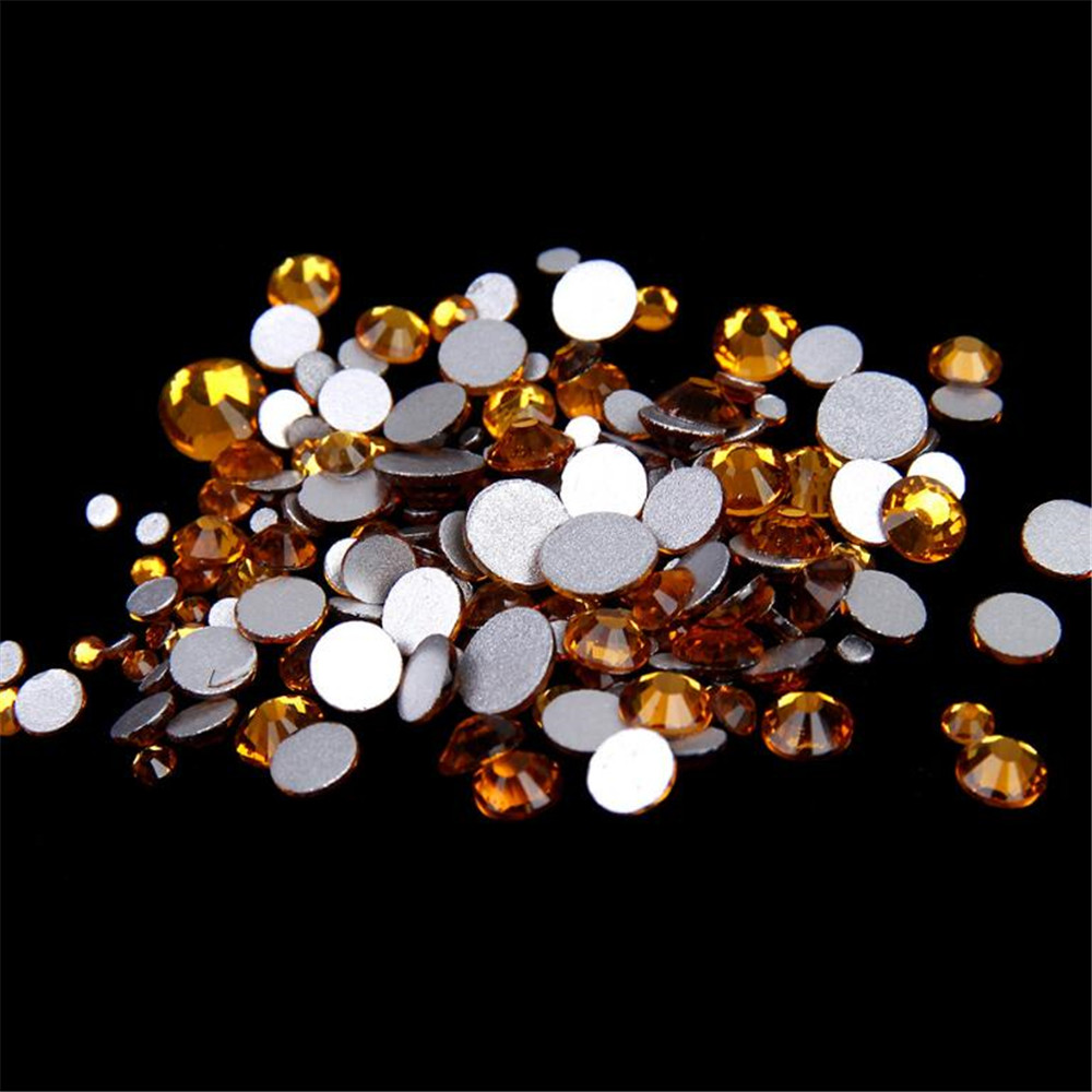 Detail Feedback Questions about SS3 SS30 Size Select Loose Topaz Yellow  Flatback Crystal Rhinestones DIY Non HotFix Glass Stones No Glue Nail Arts  ... bf0fa2003483