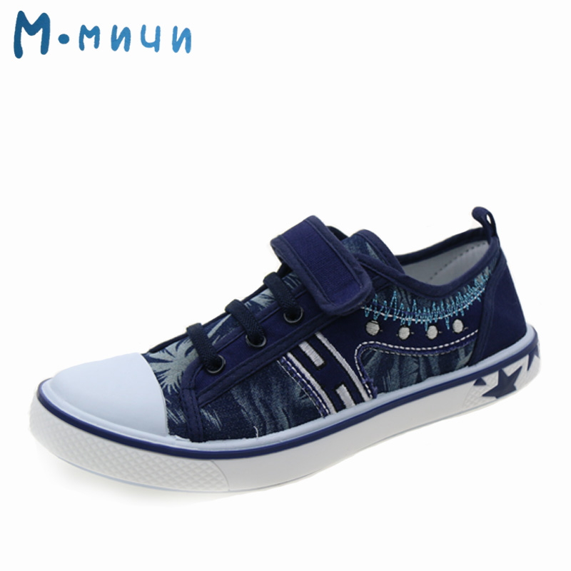 M.MNUN Boys Shoes Breathable Shoes for Boys Casual Canvas Sneakers Kids Shoes Children Footwear Boys Plus Size 20-36 1484E children canvas shoes 2016 boys girls loafers designer kids canvas sneakers children footwear casual chaussure kids flat shoes