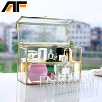 AF New 24 Holes Glasses Lipstick Makeup Organizer Rangement Maquillage Crystal Of Cosmetics Included In The of Home Storage