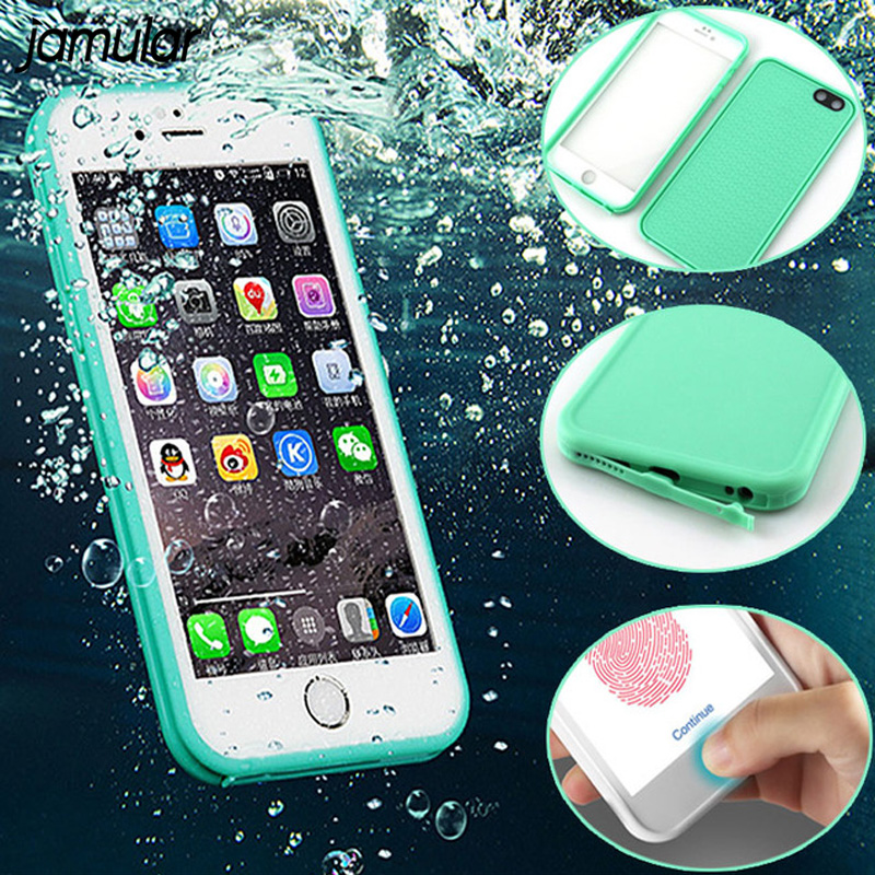 JAMULAR Waterproof Case For iphone X 8 7 6 6s Plus 5 5s SE Silicone Shockproof Shell Outdoor Cover for iPhone 7 6 6s Plus Fundas