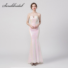 New Spring Summer Bridesmaid Dresses 2019 Sequin Pink Long Maid of Honor Dress For Wedding Party Fashion Women Gowns L5259