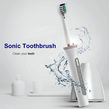 Sonic Electric Toothbrush UV Sanitizer Rechargeable Wireless Charge tooth brush Timer IPX7 Waterproof Ultrasonic with brush head