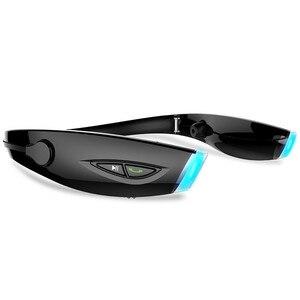 Image 5 - Gorliwy H1 wodoodporna Pieghevole słuchawki bezprzewodowy zestaw słuchawkowy audifonos fone Stereo Bluetooth Sportivo zestaw słuchawkowy HiFi Led spinki do mankietów