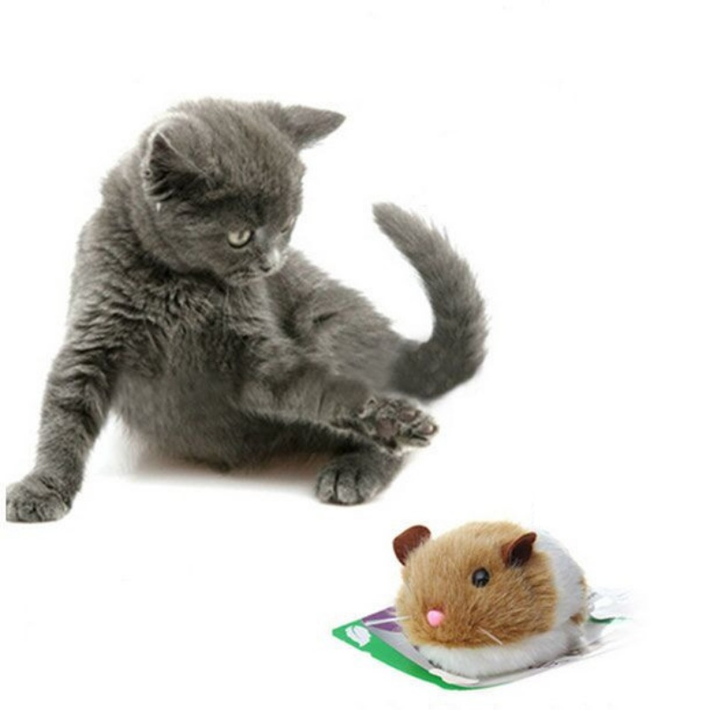 Toy For A Cat High Quality 1pcs Cute Shaking Rat Automatic Forward Mouse Plush Toys For Cats Pull Ring Vibration Cats Toy