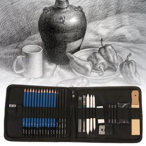 Image 2 - 32 pçs kit artista de desenho profissional lápis esboço de carvão vegetal arte artesanato com saco de transporte conjunto ferramentas pintura suprimentos conjuntos arte