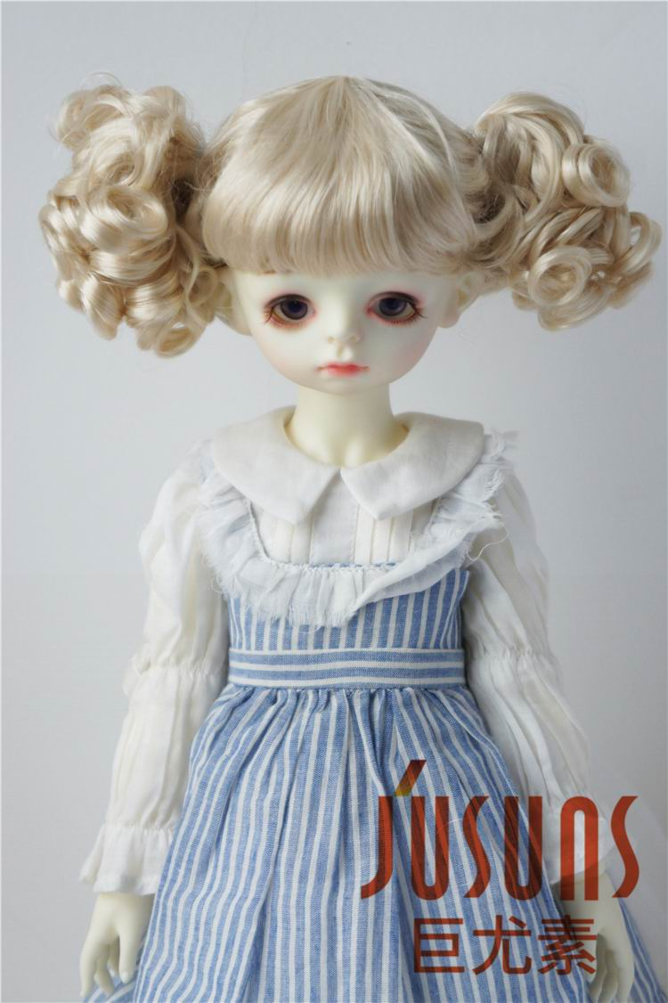 4c68aedd8fe4 JD275 SD doll wigs 1/3 8- 9inch Lovely two curly pony BJD wig 23CM  synthetic mohair doll wigs