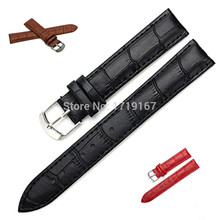 12 14 16 18 20 22 24 mm Microfiber cowhide genuine leather watch strap band Watchband Men  male Leather
