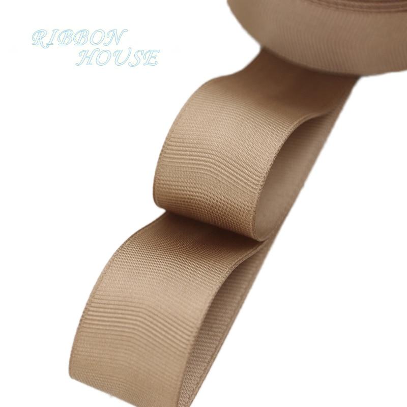(5 м/лот) 1 «(25 мм) Кофе корсажная лента подарочная упаковка оптом Рождество украшение ленты