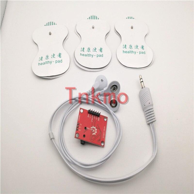 1set Ecg module AD8232 ecg measurement pulse heart ecg monitoring sensor module kit 1set transistor multivibrator simple led flash flashing lights circuit kit parts module sensor
