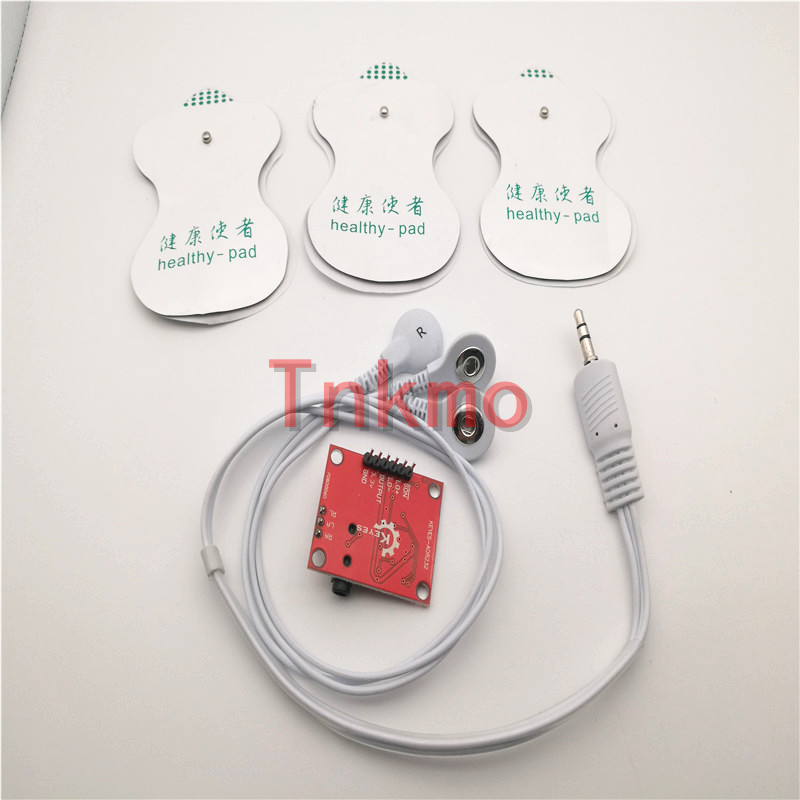 где купить Free shipping 1set Ecg module AD8232 ecg measurement pulse heart ecg monitoring sensor module kit по лучшей цене