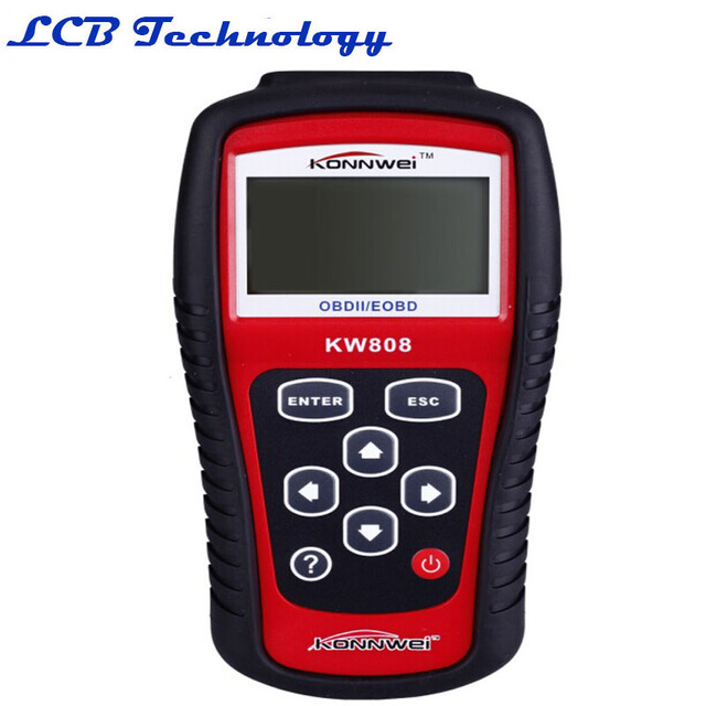 5PC/LOT Diagnostic Tool KONNWEI KW808 OBD2 Scanner / EOBD Auto Code Reader work For CarsKW808 Scanner Automotive