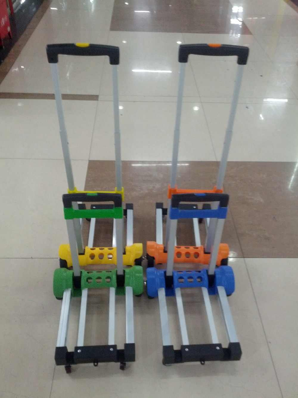 Легкие складные тележки из алюминиевого сплава тележки с поручнями складной портативный Багаж ручной тележки трейлер продуктовая тележка для супермаркета