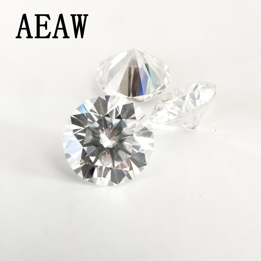 Moissanite Loose Stone Carat VVS1 Positive Lab Diamond Brilliant-Cut Grade-Test Round