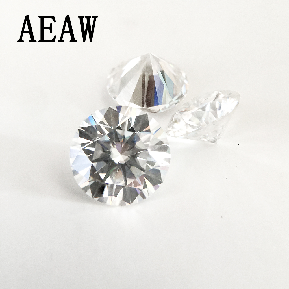 Brillant rond Cut 0.5ct Carat 5.0mm F Couleur Moissanite Lâche Pierre VVS1 Excellente Cut Grade Test Positif Lab Diamant