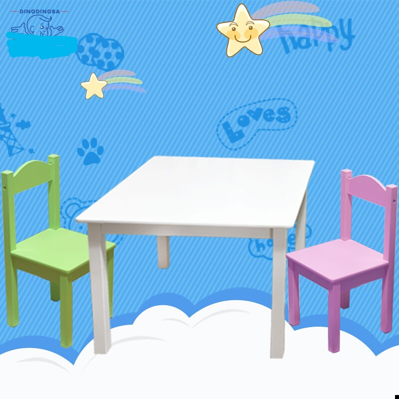 Study Table And Chair For Kids Ugly Covers Wedding Children Furniture Sets Set Solid Wood Chairs Mesa Y Silla Infantil