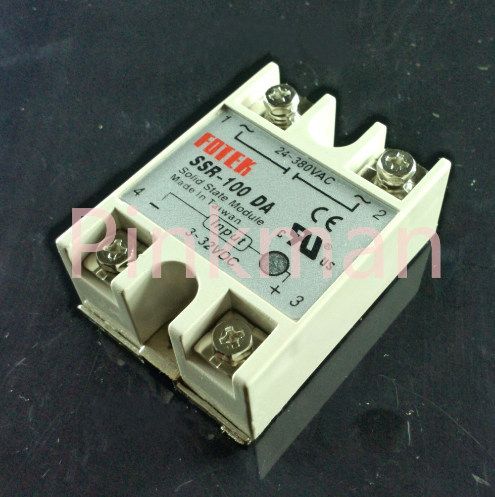 1 pc FOTEK 100DA  Solid State Relay  SSR  Single Phase DC-AC normally open single phase solid state relay ssr mgr 1 d48120 120a control dc ac 24 480v