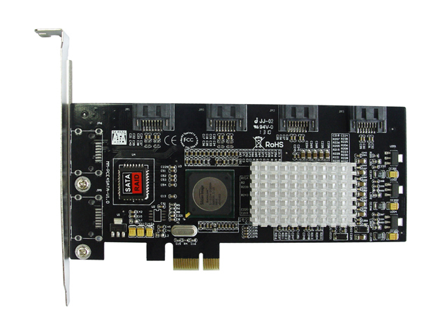 Good Quality 4 Ports SATA 2 PCI-Express Hard Drive RAID Controller Card 3Gb/s SIL3124 Chipset Best Price 2 ports rs485 422 pci card optical isolation surge protection 1053 chip