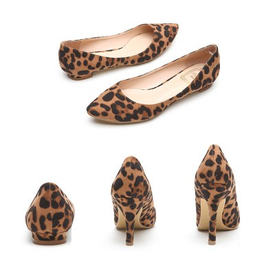 2019 Sexy Leopard Women Shoes High Heels 6-10CM Elegant Office Pumps Shoes Women Print Pointed Toe Luxury Singles Shoes V1821