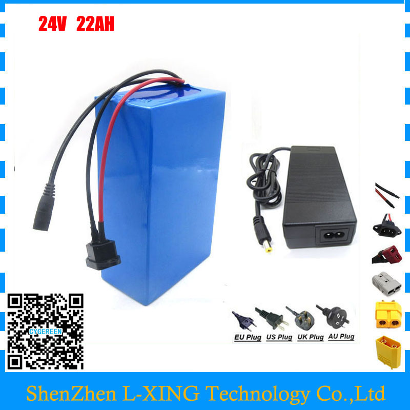 Fast shipping 24v lithium ion battery 24V 22AH electric bike battery 24 v 7S battery with 30A BMS 29.4V 3A Charger  24v e bike battery 8ah 500w with 29 4v 2a charger lithium battery built in 30a bms electric bicycle battery 24v free shipping