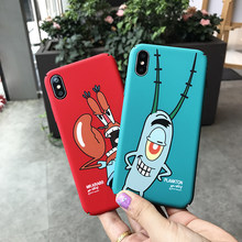 Cute Cartoon Spongebob Plankton Patrick pattern Phone Case Hard plastic Cover Funda Coque For iPhone 8 7 6 6s plus X XR XS Max(China)