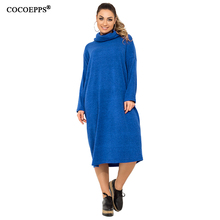 5XL 6XL Autumn Plus Size Casual Women dress 2019 Winter Tuet