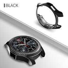 case cover For Samsung Galaxy watch 46mm Gear S3 frontier soft TPU plated replacement protective bumper frame shell protective cover for samsung gear s3 frontier case tpu plated all around protective bumper shell smartwatch r760 cover frame