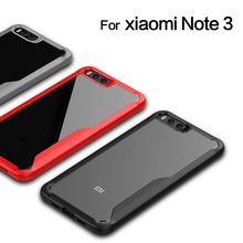 HD Transparent Acrylic Backing Silicone Frame Hybrid Case for Xiaomi Mi Note 3 Scratch Protection Cover for Xiaomi Note 3 Case