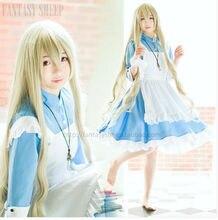 Proyecto kagero animado cosplay kozakura mari caliente de halloween maid dress cosplay ropa vestidos