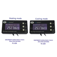 LCD Reptiel Digitale Repile Thermostaat Temperatuurregeling Warmte Cool US EU Plug D21 DropShipping
