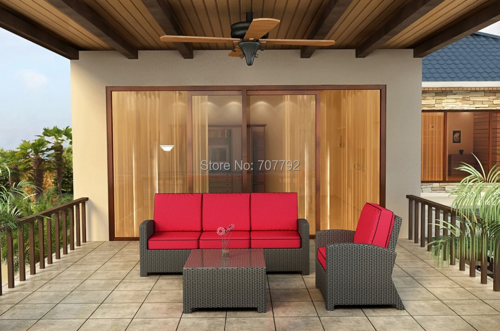 2017 Hot Sale Rattan Club Chair Set Outdoor Lounge Sofa