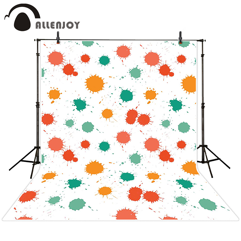 Allenjoy photographic background Paint colored dots backdrops newborn boy studio Excluding bracket 10x20
