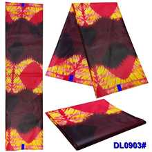 African National Wax dyed Polyester Color Printing cloth DIY 6 yadrs