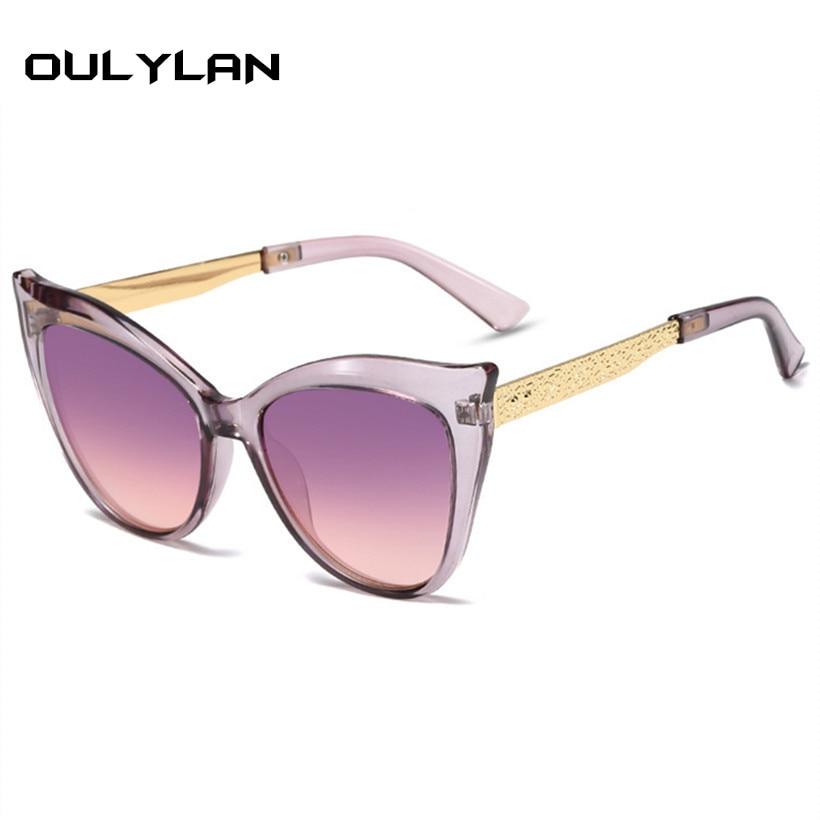 Oulylan Cat Eye Sunglasses Women Fashion Brand Gradient Sun Glasses Men Shades Female Retro High Quality Eyeglasses UV400