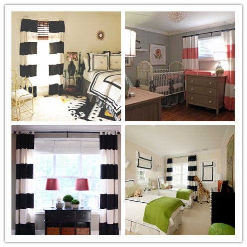 Curtains Ideas black and white striped curtains horizontal : Popular Horizontal Striped Curtains-Buy Cheap Horizontal Striped ...