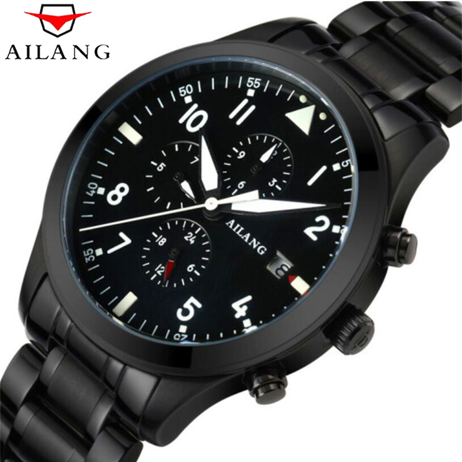 Luminous Mechanical Watches Men AILANG All steel Multi-function Automatic Wrist Watch Male Clock reloj hombre 50M waterproof ailang tourbillon automatic mechanical watch men s waterproof 50m army sport watches men full steel luminous clock reloj hombre
