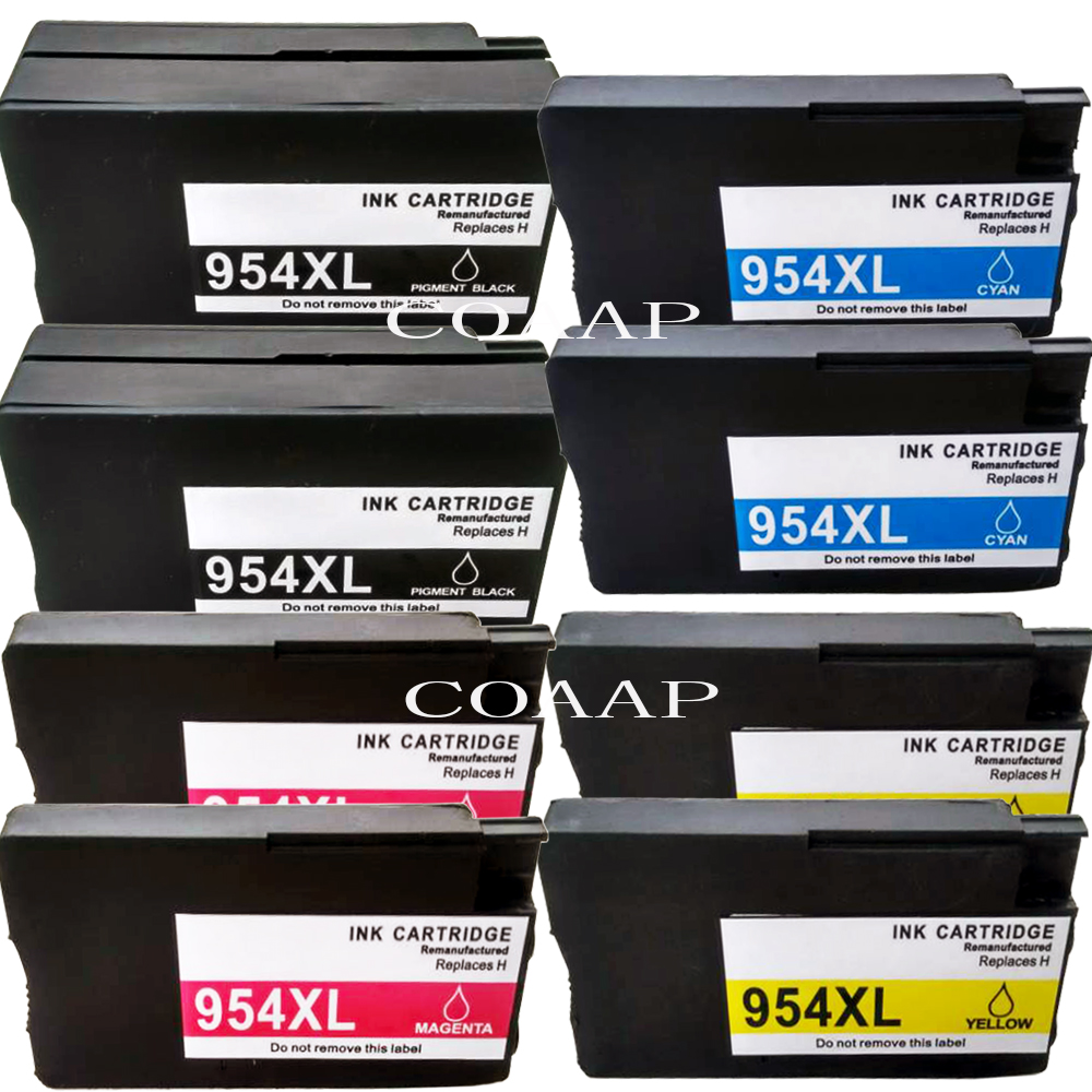 US $77 76 19% OFF|8 Replacement hp954 xl ink Cartridge for compatible HP  8725 7740 8210 8710 8716 8730 Printer-in Ink Cartridges from Computer &